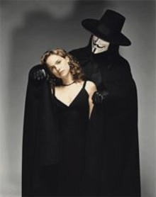 Crazy like a Fawkes: Natalie Portman and Hugo Weaving in a toned-down Vendetta.