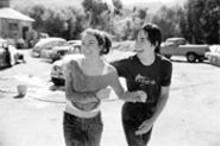 RICHARD  CARTWRIGHT - Bug off: Lindsay Lohan (left) and Justin Long (right)