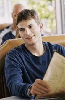 Ashton Kutcher: Yeah, we want to pinch his cheeks too.