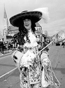 JENNIFER  SILVERBERG - Don't let this guy  be the only dandy at Mardi Gras -- - head to Soulard!