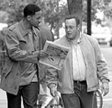 The stale prince: Will Smith (left, with Kevin James) - sticks to shtick in this paint-by-numbers comedy.
