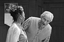 "Storytellers: Linda Kennedy (left) and ""Mississippi"" - Charles Bevel"