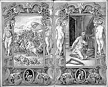 JOSEPH ZEHAIM/THE PIERPONT MORGAN LIBRARY - Giulio Clovio created Death of Uriah (left) and - David in Prayer (right) in 1546, and they class - up Night & Day 450 years later.