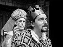 Wicked reign: Richard Lewis (left) and Todd Gillenardo - (right, as the titular king)