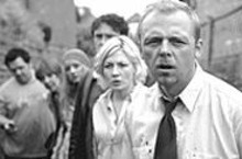 Death becomes them: Kate Ashfield and Simon Pegg - (foreground) in Shaun of the Dead.