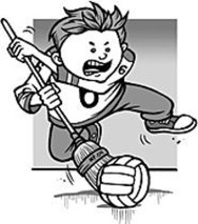 MARK  POUTENIS - Broomball: It's like if hockey and curling had a little - brother.