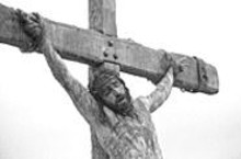 Cross to bear: Passion looks at the sacrifice, - but not the prophet, the teacher or the man.