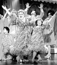 PAUL  KOLNIK - Bruce Vilanch belts it out to the back of the theater, - la Ethel Merman.