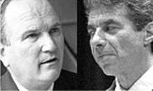 JENNIFER  SILVERBERG - Bill against Bill: William V. Roberti (left), interim superintendent of St. Louis Public Schools, wants to make school board member Bill Haas (right) pay
