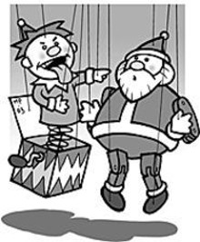 MARK  POUTENIS - Boys, puppets, Santa, laughter -- what more do you want?