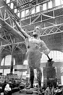 VIRGINIA  PUBLISHING - A statue of the Roman god Vulcan still stands, 100 years after the St. Louis World's Fair