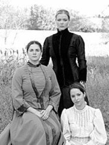 SABRINA  URSANER - Triple play: Olga (Robin Kacyn), Masha (Merrie Brackin) and Irina (Judith Lesser) are Chekhov's Three Sisters