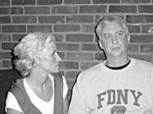 Margeau Steinau and Rory Flynn in The Guys, a theatrical response to 9/11