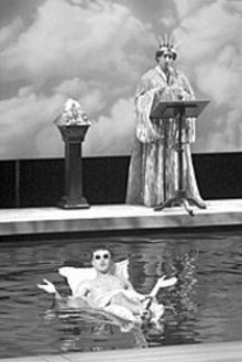 JERRY NAUNHEIM, JR. - James McKay as Phaeton (foreground) and Manu Narayan as Apollo pool their resources in Metamorphoses