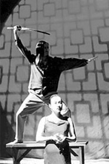 JOHN  LAMB - Tomoko Kamimura (foreground) in Four Modern Noh Plays