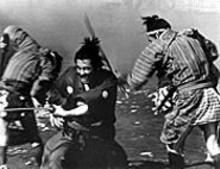 Tashiro Mifune politely disagrees in a scene from Yojimbo, screening at midnight on Friday and Saturday at the Tivoli
