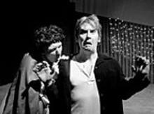 Schmack Virgin as Lando Calrissian and Jim Ousley as Han Solo