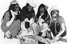 The Guerrilla Girls go ape at the University of Missouri-St. Louis on Friday.