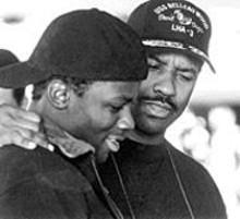 Derek Luke and Denzel Washington in Antwone Fisher