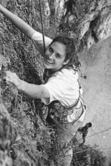 MISSOURI BOTANICAL GARDEN - Ellen McCallie hangs by a thread.