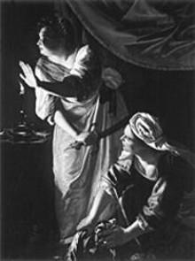 """Artemisia Gentileschi's """"Judith and Her Maidservant,"""" 1619"""