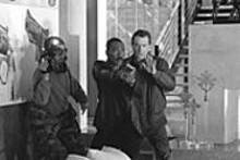 In Showtime, the conflict's between Eddie Murphy and Robert De Niro.