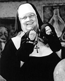 CAROL  ROSEGG - Maripat Donovan originated the role of Sister in Late Nite Catechism (though Jane Morris plays the part in the St. Louis production); Sister tells stories of saints and loads of jokes, all playing off our assumed communal experience of Catholic education.
