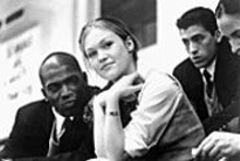 Mekhi Phifer, Julia Stiles and Andrew Keegan in O, an Othello update that generally looks like a TV special