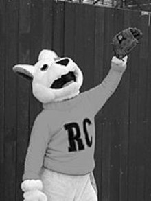 RIVER CITY RASCALS - Rascals mascot Ruffy hams it up.