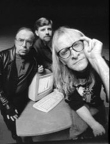 Three men and a maybe, from left: Tom Braidwood,  Bruce Harwood and Dean Haglund are The Lone Gunmen.