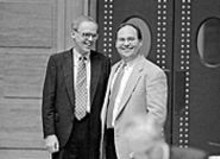 State Sen. Wayne Goode (left, pictured with Sen. David Klarich)