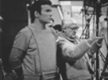 This is illogical: Capt. James T. Kirk (William Shatner) and director Robert Wise on the unhappy set of Star Trek: The Motion Picture.