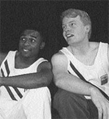 Eric J. Conners and Jared Joplin in Historyonics' Dark Glory: The 1936 Olympics
