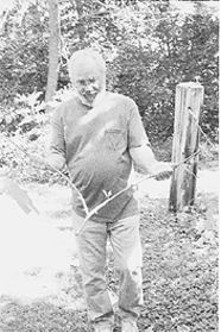 WM.  STAGE - Jack Bacus' preferred divining instrument is the wood of a fruit tree.