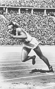 PHOTO COURTESY OF THE LIBRARY OF CONGRESS - Jesse Owens made a mockery of Hitler's racist theories of the white master race at the 1936 Games.