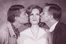 BILL  STOVER - Larry Alexander, Corinne Melanon and David Schmittou in Stages' High Society, a polished, cheerful production of a cheesy show