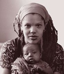 JENNIFER  SILVERBERG - Zaire Imani and her youngest child, Selah