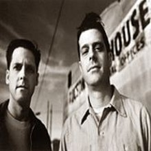 BILL  CARTER - Calexico: To label the band a merger of American and Latino sensibilities is to deny the expansive curiosity of its hub, Joey Burns (left) and percussionist John Convertino.