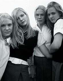 Chelse Swain, Kirsten Dunst, Leslie Hayman and A.J. Cook in The Virgin Suicides, Sofia Coppola's breezy adaptation of Jeffrey Eugenides' wry novel