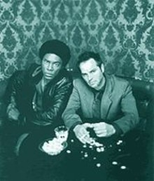 Black from the dead: Richard Brooks, left, and Clayton Rohner are the mod squad in good vs. evil.