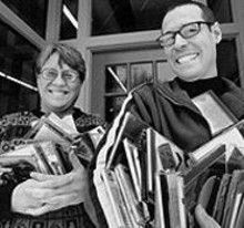 JAY  FRAM - Station manager Bev Hacker and music director Tony Renner of KDHX. KDHX has grown into its mantle, becoming exactly what a noncommercial station should be: adventurous, knowledgeable, intelligent, populist and ear-strainingly diverse.