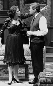 J. BRUCE SUMMERS - Carolyn Swift and Anderson Matthews in Who's Afraid of Virginia Woolf?
