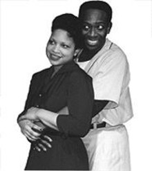 Cintia Sutton and Harry Waters Jr. in Breaking the Line: The Jackie Robinson Story