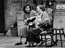 Giulia Pagano and Pauline Flanagan in The Beauty Queen of Leenane