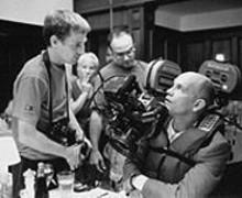 Director Spike Jonze with John Malkovich