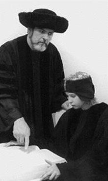 John Contini and Rachel Tiemann in The Merchant of Venice