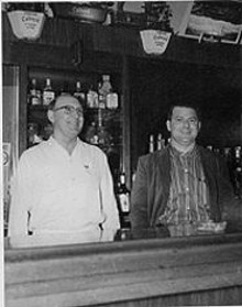 FRANK  NAZZOLI - Frank and Paula's dad, Paul Gianella (right), and his dad, Frank Gianella. Pictures of them are scarce; they spent more time photographing each new patron for the tavern scrapbook.