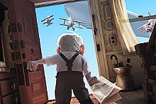 Onward and upward: Carl Fredricksen (voiced by Ed Asner) gets a new perspective in Up.