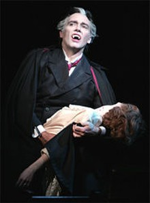 Kurt Rhoads vamps it up as Dracula.
