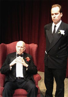 TYSON BLANQUART - The mob's got the Shakes: Chuck Lavazzi as Vito and B. Weller as Tom in Corleone.
